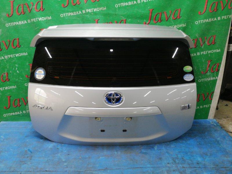 Дверь задняя Toyota Aqua NHP10 1NZ-FXE 2012 задняя (б/у) СПОЙЛЕР