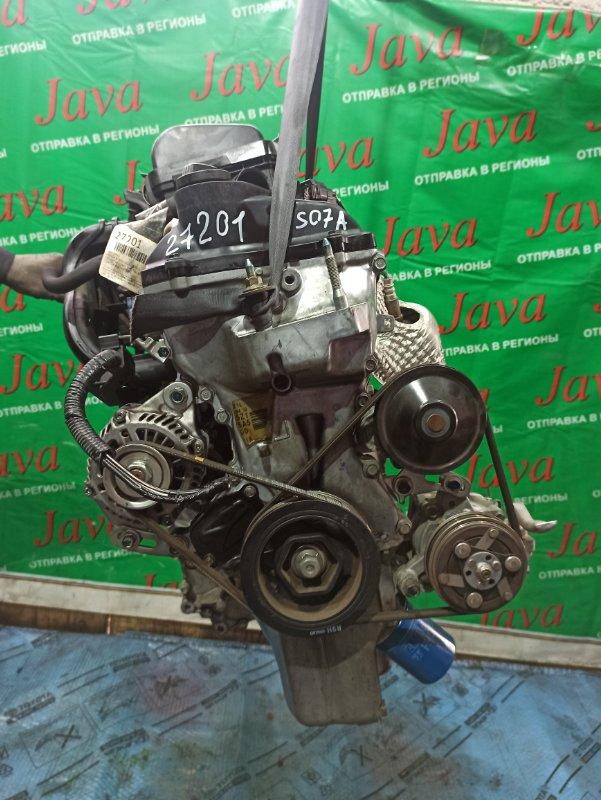 Двигатель Honda N-Wgn JH1 S07A 2015 (б/у) ПРОБЕГ-48000КМ. 2WD. КОСА+КОМП. ПОД А/Т. СТАРТЕР В КОМПЛЕКТЕ.