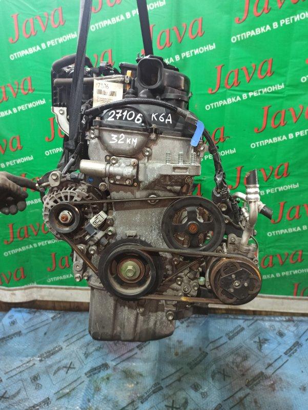 Двигатель Mazda Az Wagon MJ23S K6A 2011 (б/у) ПРОБЕГ-32000КМ. 2WD. +КОМП. ПОД А/Т. СТАРТЕР В КОМПЛЕКТЕ.