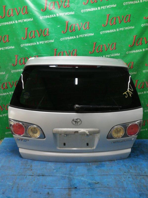 Дверь задняя Toyota Caldina ST210 3S-FE 2001 задняя (б/у) СПОЙЛЕР. МЕТЛА. ПОТЕРТОСТИ. ДЕФЕКТ РУЧКИ