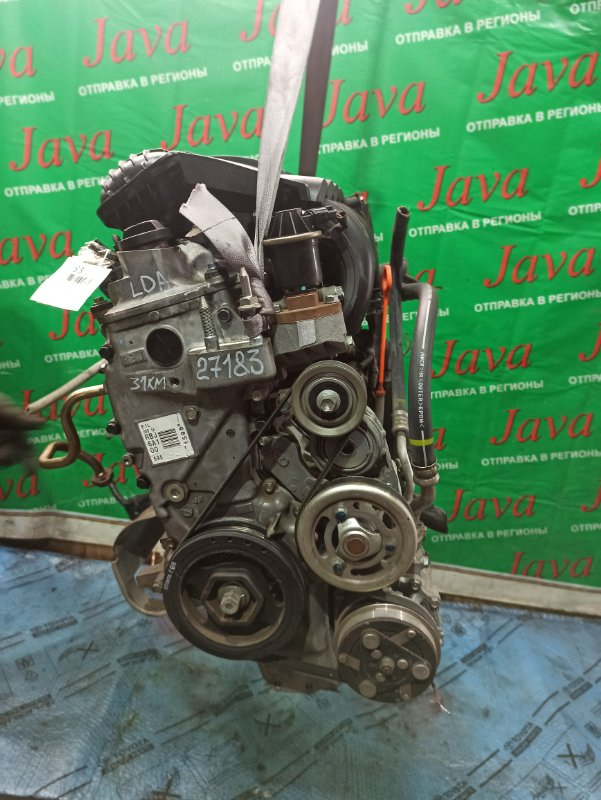 Двигатель Honda Insight ZE2 LDA 2009 (б/у) ПРОБЕГ-31000КМ. КОСА+КОМП. 2WD. ПОД А/Т.