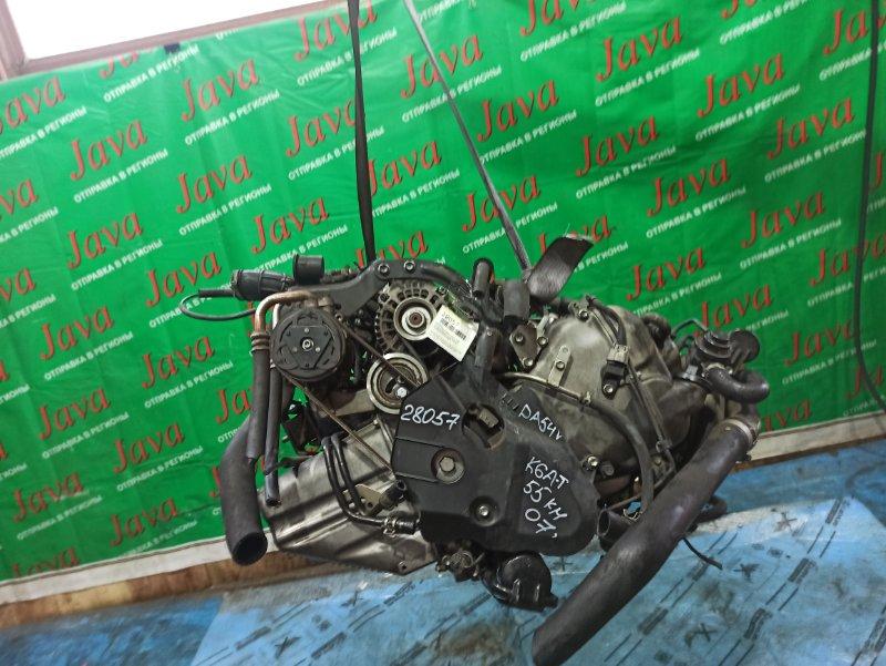 Двигатель Suzuki Every DA64V K6A-T 2007 (б/у) ПРОБЕГ-55000КМ. 2WD. КОСА+КОМП. МЕХ. ЗАСЛОНКА. ПОД А/Т. СТАРТЕР В КОМПЛЕКТЕ.