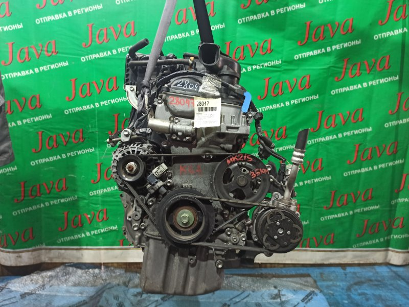 Двигатель Suzuki Palette MK21S K6A 2010 (б/у) ПРОБЕГ-35000КМ. 2WD. ЭЛЕКТРО ЗАСЛОНКА. ПОД А/Т. СТАРТЕР В КОМПЛЕКТЕ.
