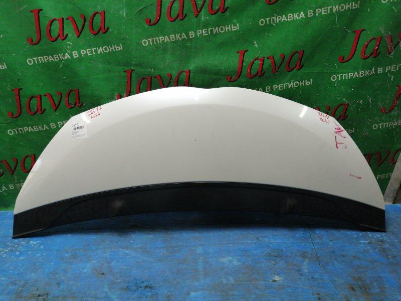 Капот Toyota Iq KGJ10 1KR-FE 2009 передний (б/у) ПОТЕРТОСТИ