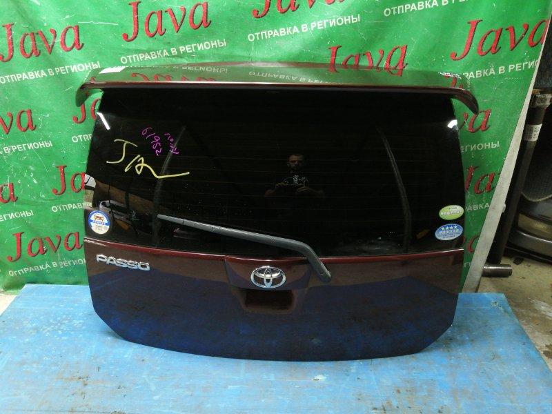 Дверь задняя Toyota Passo QNC10 K3-VE 2005 задняя (б/у) ПОТЕРТОСТИ. СПОЙЛЕР. МЕТЛА.
