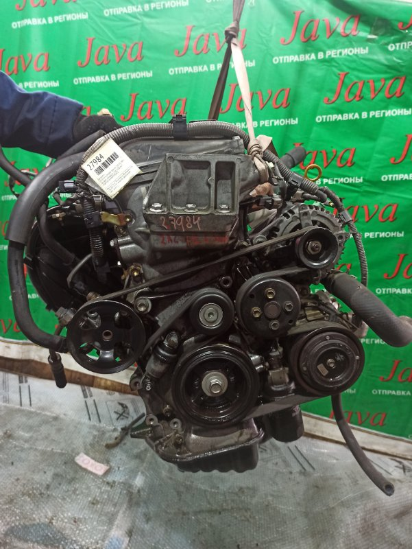 Двигатель Toyota Alphard ANH10 2AZ-FE 2005 (б/у) ПРОБЕГ-63000КМ. 2WD. КОСА+КОМП. ЭЛЕКТРО ЗАСЛОНКА. ПОД А/Т. СТАРТЕР В КОМПЛЕКТЕ.