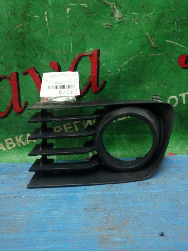 Заглушка бампера Toyota Prius NHW20 1NZ-FXE 2006 передняя правая (б/у) 53112-47030