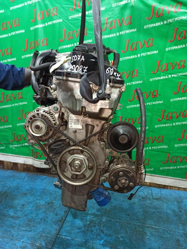Двигатель Honda N-Box JF1 S07A 2012 (б/у) ПРОБЕГ-60000КМ. КОСА+КОМП. 2WD. ПОД А/Т. СТАРТЕР В КОМПЛЕКТЕ.