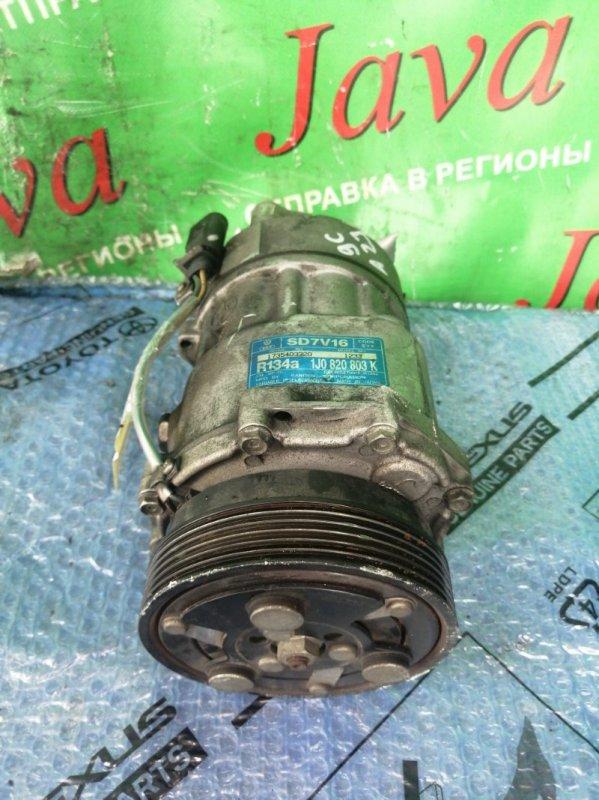 Компрессор кондиционера Volkswagen New Beetle 9C1 AZJ 2004 (б/у) 1735403320 1J0 820 803K