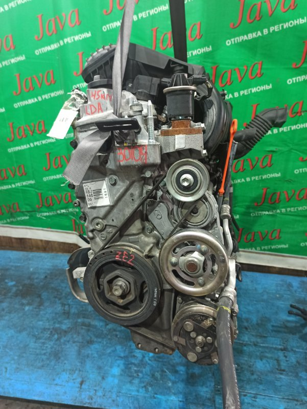 Двигатель Honda Insight ZE2 LDA 2009 (б/у) ПРОБЕГ-45000КМ. КОСА+КОМП. 2WD. ПОД А/Т.