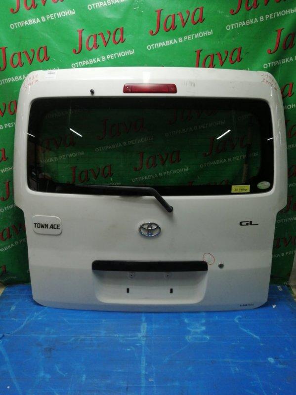 Дверь задняя Toyota Town Ace S402M 3SZ-VE 2008 задняя (б/у) ПОТЕРТОСТИ. ТЫЧКА. МЕТЛА