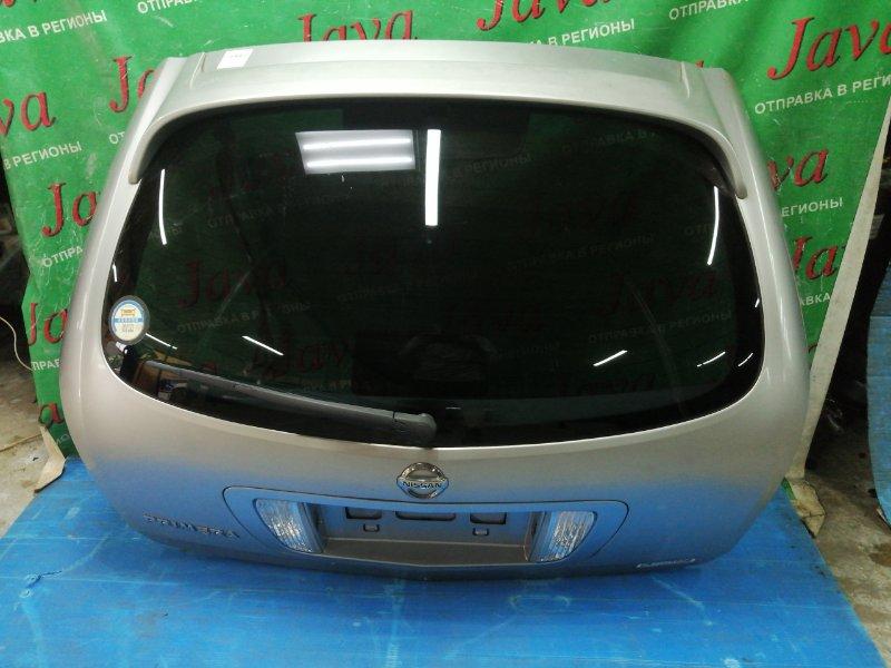 Дверь задняя Nissan Primera WTP12 QR20DE 2002 задняя (б/у) ПОТЕРТОСТИ. КАМЕРА. СПОЙЛЕР