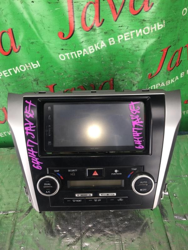 Монитор Toyota Camry AVV50 2AR-FXE 2012 (б/у) В СБОРЕ. +КОНСОЛЬ.+КЛИМАТ КОНТРОЛЬ.