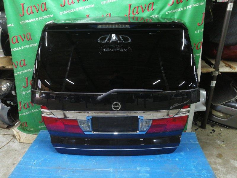 Дверь задняя Toyota Alphard ANH10 2AZ-FE 2003 задняя (б/у) ПОТЕРТ, СПОЙЛЕР, МЕТЛА, КАМЕРА