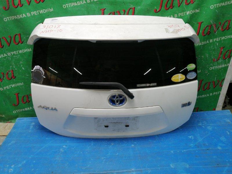 Дверь задняя Toyota Aqua NHP10 1NZ-FXE 2012 задняя (б/у) ПОТЕРТ, СПОЙЛЕР, МЕТЛА