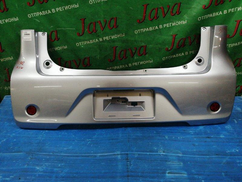 Бампер Mitsubishi Ek Wagon B11W 3B20 2014 задний (б/у) ПОТЕРТОСТИ.