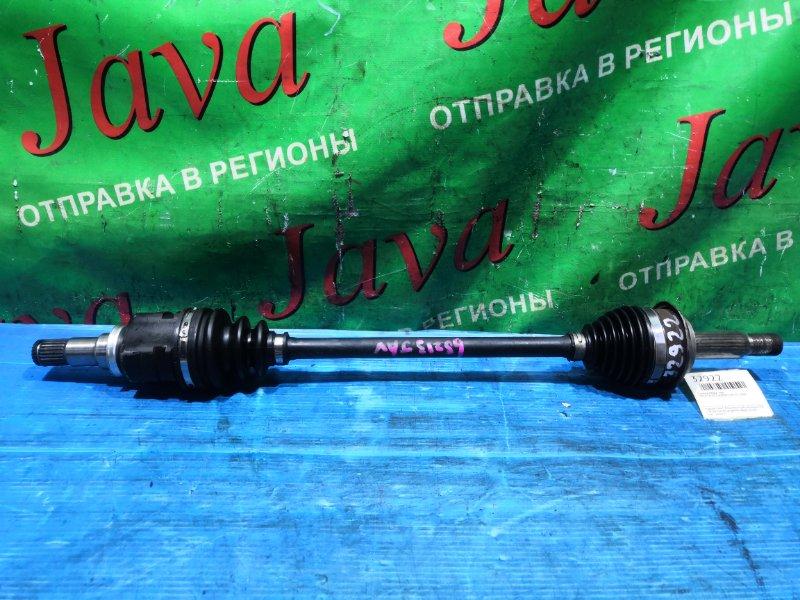 Привод Toyota Vitz KSP90 1KR-FE 2009 передний левый (б/у) 2WD