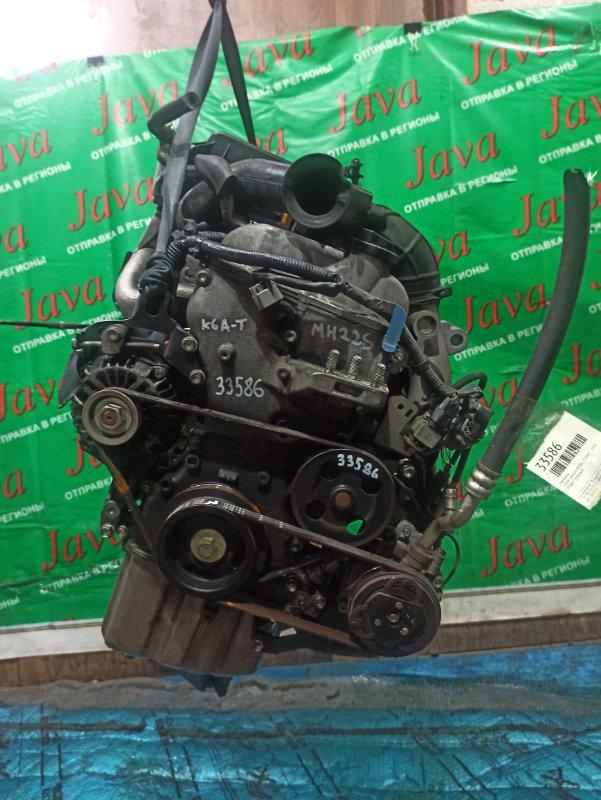 Двигатель Suzuki Wagon R MH22S K6A-T 2008 (б/у) ПРОБЕГ-57000КМ. 2WD. МЕХ.ЗАСЛОНКА. +КОМП. СТАРТЕР В КОМПЛЕКТЕ.