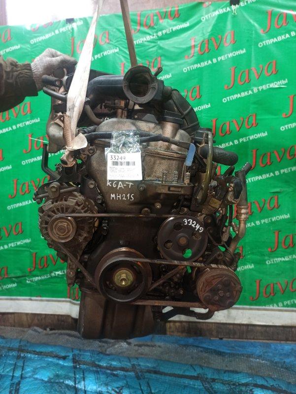 Двигатель Suzuki Wagon R MH21S K6A-T 2003 (б/у) ПРОБЕГ-57000КМ. 2WD. ПОД А/Т. СТАРТЕР В КОМПЛЕКТЕ.