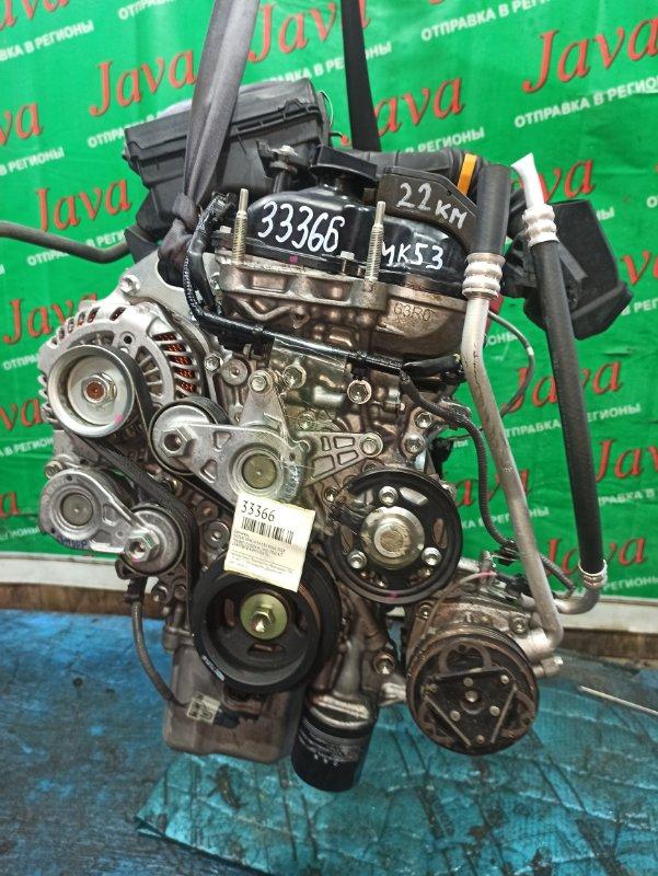 Двигатель Suzuki Spacia MK53S R06A 2018 (б/у) ПРОБЕГ-22000КМ. 2WD. +КОМП. ГИБРИД. ПОД А/Т. СТАРТЕР В КОМПЛЕКТЕ.