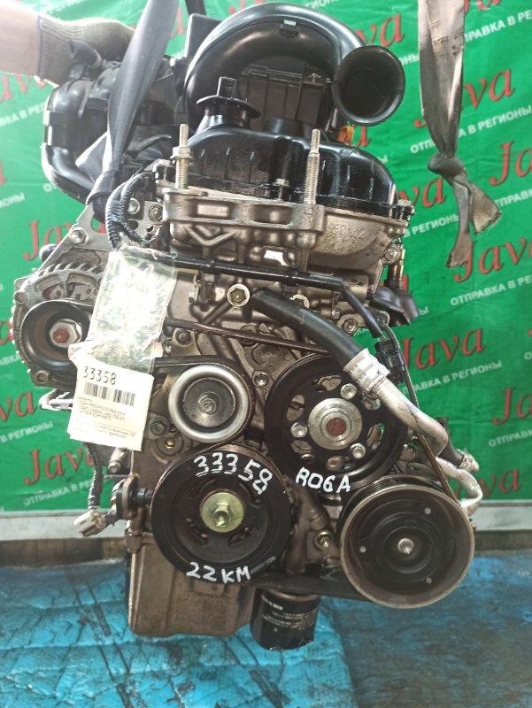 Двигатель Nissan Moco MG33S R06A 2014 (б/у) ПРОБЕГ-22000КМ. 2WD. +КОМП. ПОД А/Т. СТАРТЕР В КОМПЛЕКТЕ. ЛОМ ДАТЧИКА VVT-I.