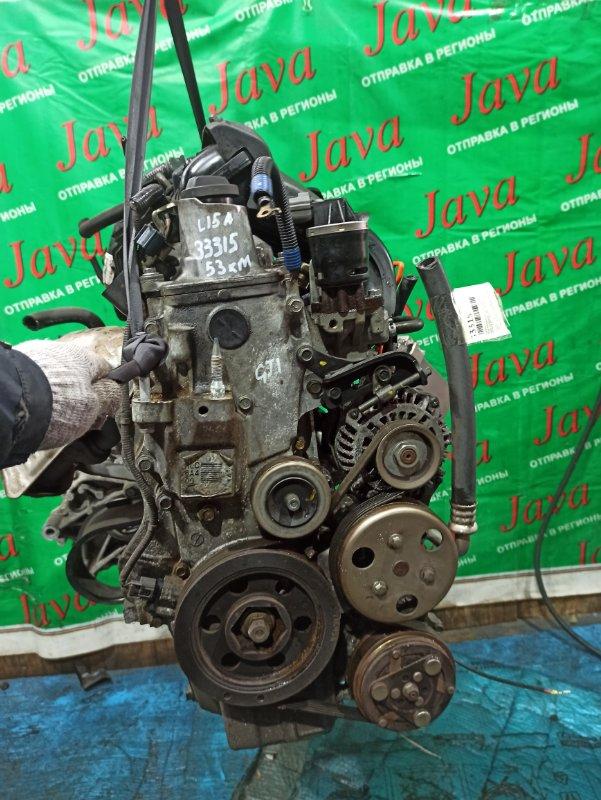 Двигатель Honda Airwave GJ1 L15A 2005 (б/у) ПРОБЕГ-53000КМ. 2WD. КОСА+КОМП. ПОД А/Т. СТАРТЕР В КОМПЛЕКТЕ.