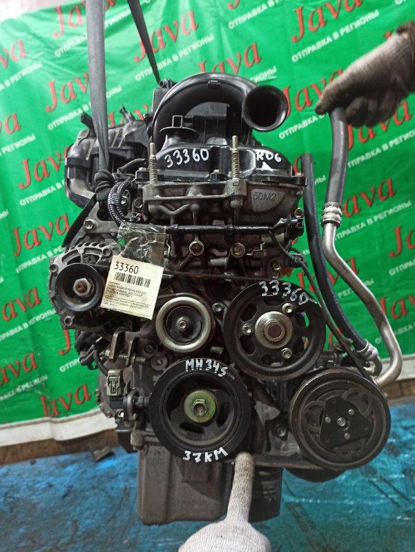 Двигатель Suzuki Wagon R MH34S R06A 2013 (б/у) ПРОБЕГ-37000КМ. 2WD. +КОМП. ПОД А/Т. СТАРТЕР В КОМПЛЕКТЕ.