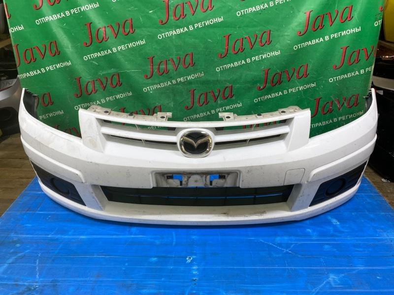 Бампер Mazda Familia Y12 HR15DE 2010 передний (б/у) ПОТЕРТОСТИ.