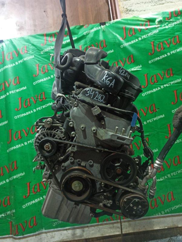 Двигатель Nissan Pino HC24S K6A 2009 (б/у) ПРОБЕГ-42000КМ. 2WD. ЭЛЕКТРО ЗАСЛОНКА. +КОМП. ПОД М/Т. СТАРТЕР В КОМПЛЕКТЕ. ПРОДАЖА БЕЗ МАХОВИКА.