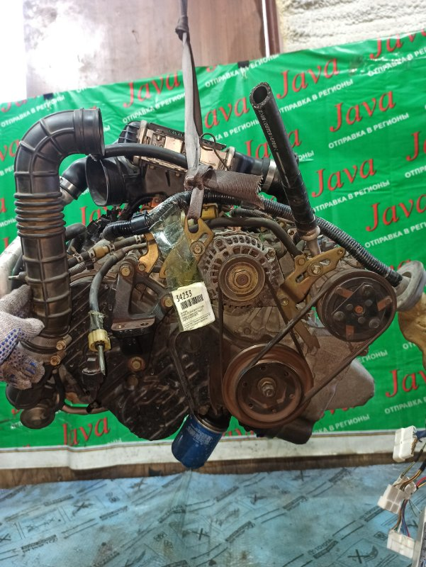 Двигатель Honda Life Dunk JB3 E07Z-T 2001 (б/у) ПРОБЕГ-61000КМ. 2WD. КОСА+КОМП. МЕХ.ЗАСЛОНКА. ПОД А/Т. СТАРТЕР В КОМПЛЕКТЕ.