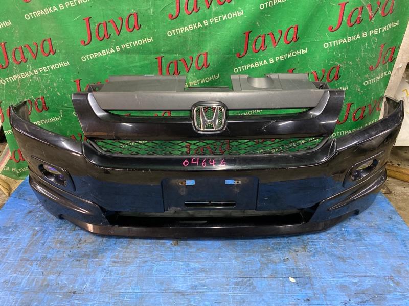 Бампер Honda Mobilio Spike GK1 L15A 2006 передний (б/у) ПОТЕРТОСТИ. ГУБА. ТУМАНКИ