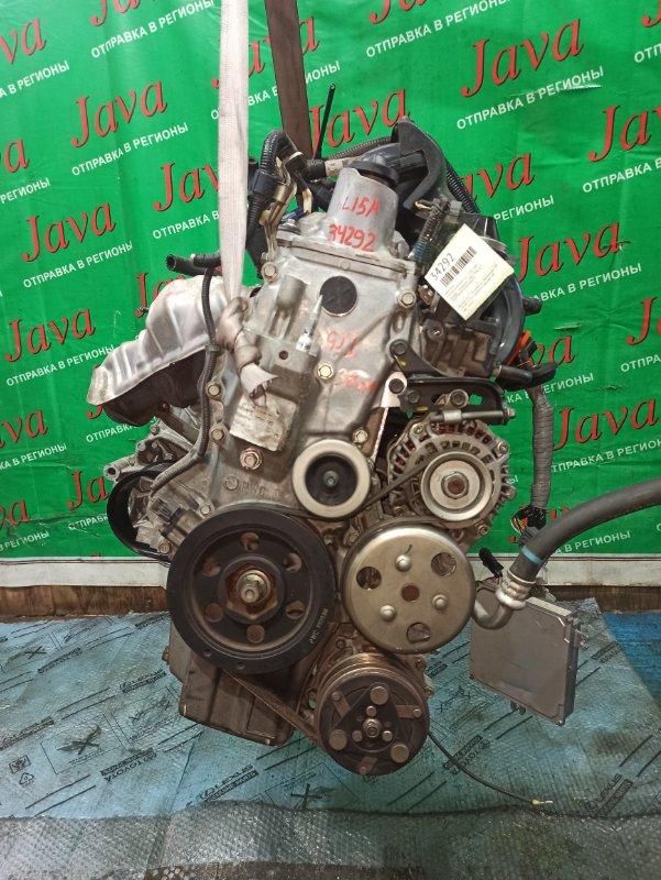 Двигатель Honda Airwave GJ1 L15A 2007 (б/у) ПРОБЕГ-38000КМ. 2WD. КОСА+КОМП. ПОД А/Т. СТАРТЕР В КОМПЛЕКТЕ.