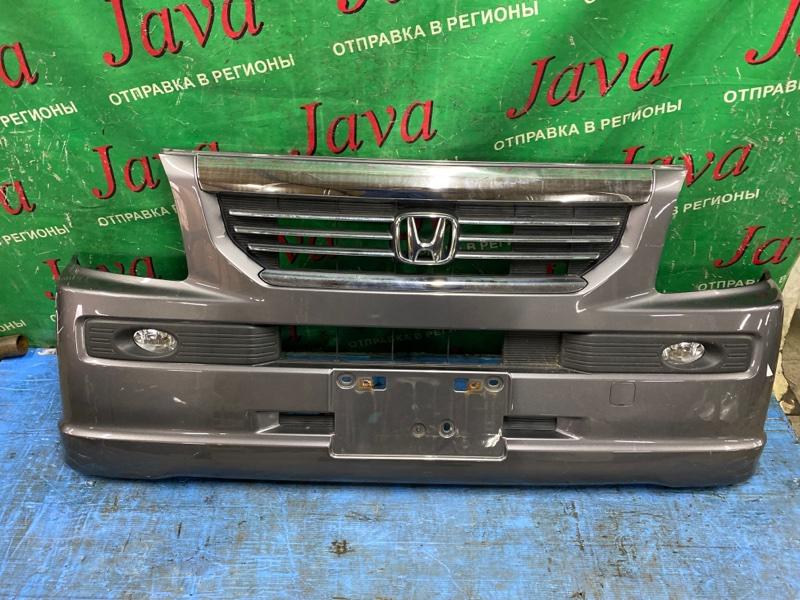Бампер Honda Vamos HM2 E07Z 2007 передний (б/у) 3-я МОДЕЛЬ. ПОТЕРТОСТИ. ТУМАНКИ