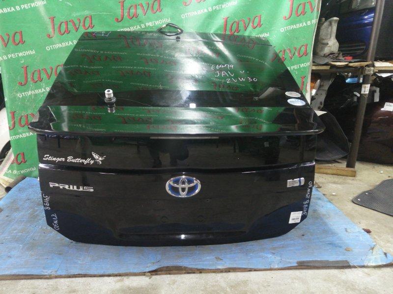 Дверь задняя Toyota Prius ZVW30 2ZR-FXE 2011 задняя (б/у) ПОТЕРТОСТИ