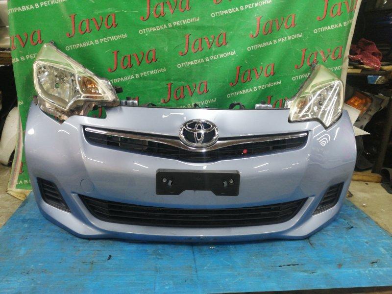 Ноускат Toyota Ractis NSP120 1NR-FE 2011 передний (б/у) ФАРЫ ГАЛОГЕН. ЗАГЛУШКИ.