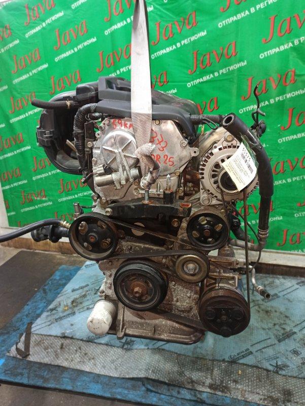 Двигатель Nissan Presage TNU31 QR25DE 2003 (б/у) ПРОБЕГ-59000КМ. 4WD. КОСА+КОМП. ПОД А/Т. СТАРТЕР В КОМПЛЕКТЕ.