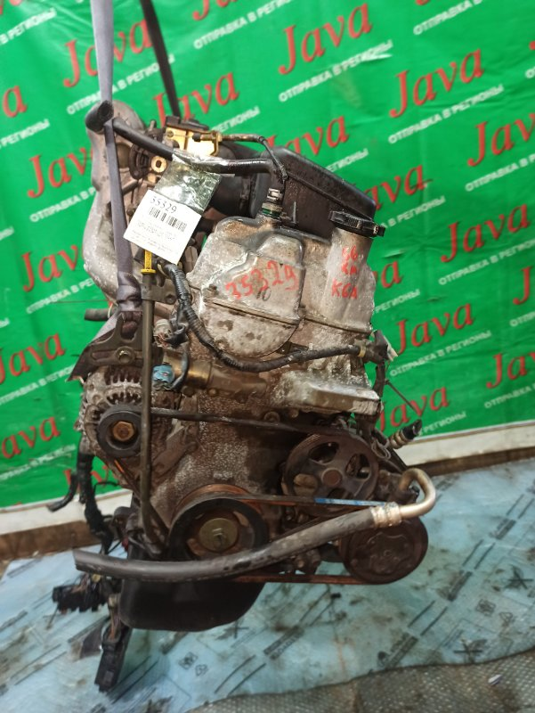 Двигатель Suzuki Wagon R MC21S K6A 2000 (б/у) ПРОБЕГ-56000КМ. 2WD. +КОМП. МЕХ.ЗАСЛОНКА. ПОД А/Т. СТАРТЕР В КОМПЛЕКТЕ.