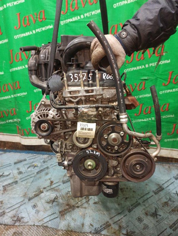 Двигатель Nissan Moco MG33S R06A 2012 (б/у) ПРОБЕГ-52000КМ. 2WD. +КОМП. ПОД А/Т. СТАРТЕР В КОМПЛЕКТЕ.