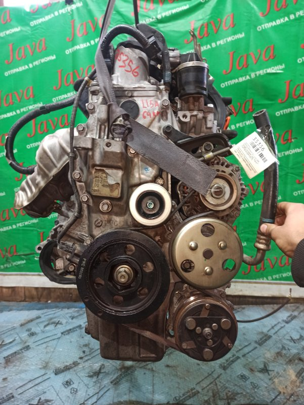 Двигатель Honda Airwave GJ1 L15A 2008 (б/у) ПРОБЕГ-64000КМ. 2WD. КОСА+КОМП. ПОД А/Т. СТАРТЕР В КОМПЛЕКТЕ.