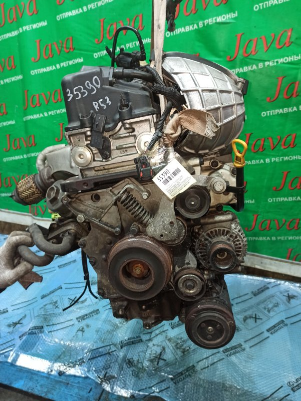 Двигатель Mini Cooper R53 W11B16A 2004 (б/у) ПРОБЕГ-67000КМ. 2WD. +КОМП.  ПОД М/Т. СТАРТЕР В КОМПЛЕКТЕ. WMWRE32050TC81878. ПРОДАЖА БЕЗ МАХОВИКА.