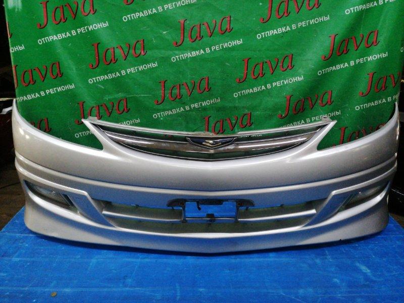 Бампер Toyota Estima ACR30 2AZ-FE 2004 передний (б/у) ТУМАНКИ. ПОТЕРТОСТИ. ТЫЧКИ. ЛОМ КРЕПЛЕНИЯ ВЕРХНЕГО.