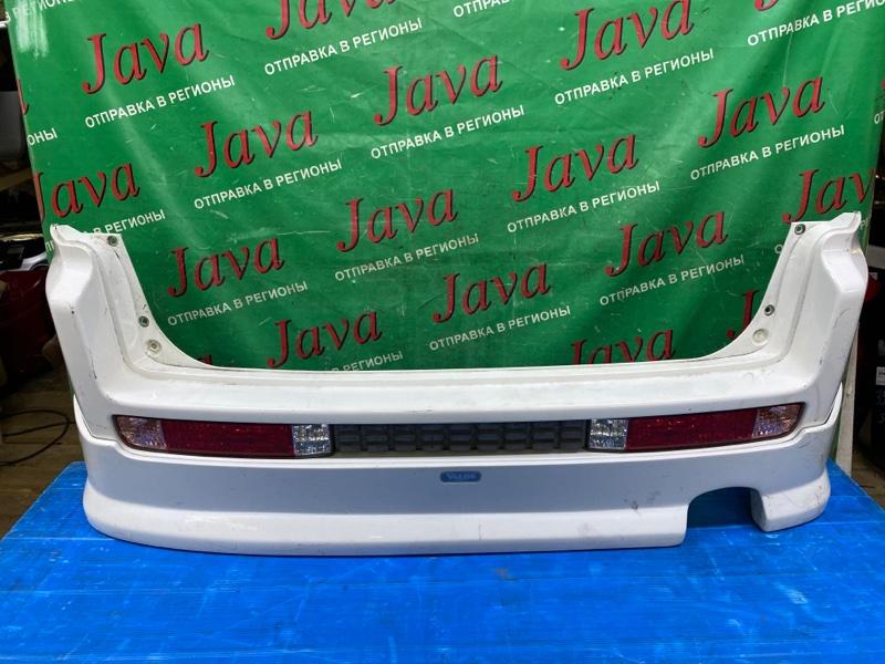 Бампер Honda Mobilio Spike GK2 L15A 2003 задний (б/у) ГУБА. ЛОМ КРЕПЛЕНИЯ. ПОТЕРТОСТИ.
