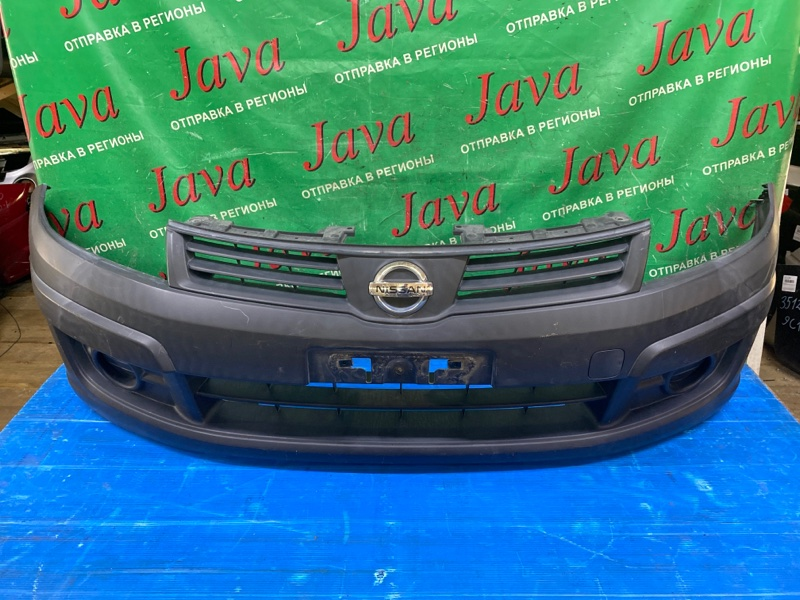 Бампер Nissan Ad VY12 HR15DE 2009 передний (б/у) ПОТЕРТОСТИ.