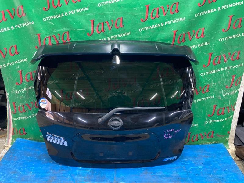 Дверь задняя Nissan Note E12 HR12DDR 2013 задняя (б/у) ПОТЕРТОСТИ. СПОЙЛЕР. МЕТЛА. КАМЕРА