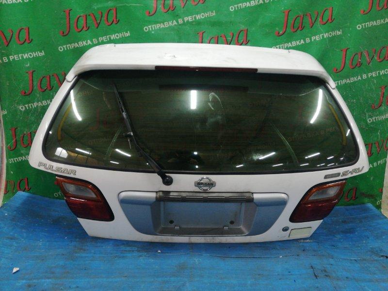 Дверь задняя Nissan Pulsar FNN15 GA15DE 1995 задняя (б/у) ПОТЕРТОСТИ. МЕТЛА. СПОЙЛЕР