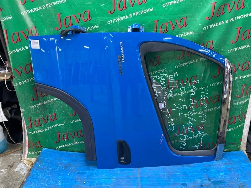 Дверь Mitsubishi Canter FB70B 4M42T 2007 передняя левая (б/у) 4х ДВЕРНЫЙ. ПОТЕРТОСТИ