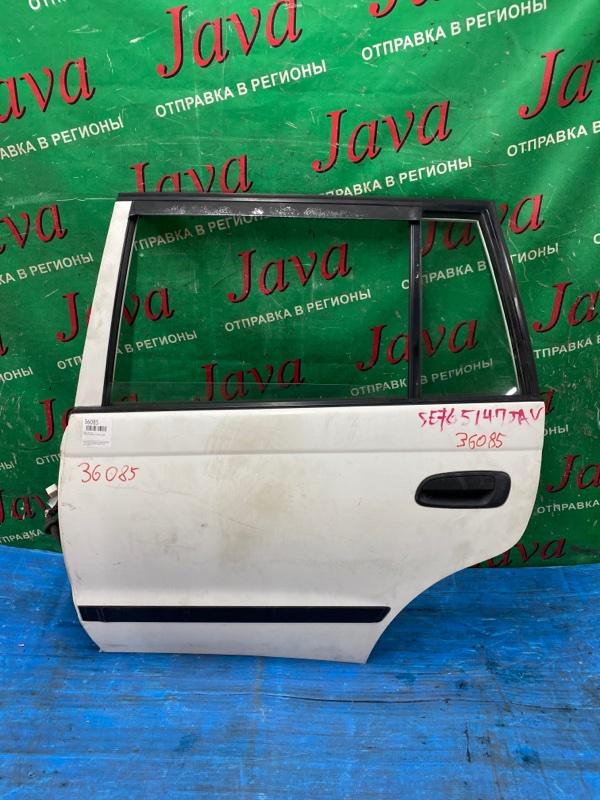 Дверь Toyota Caldina CT197 3C-E 1998 задняя левая (б/у) ПОТЕРТОСТИ.