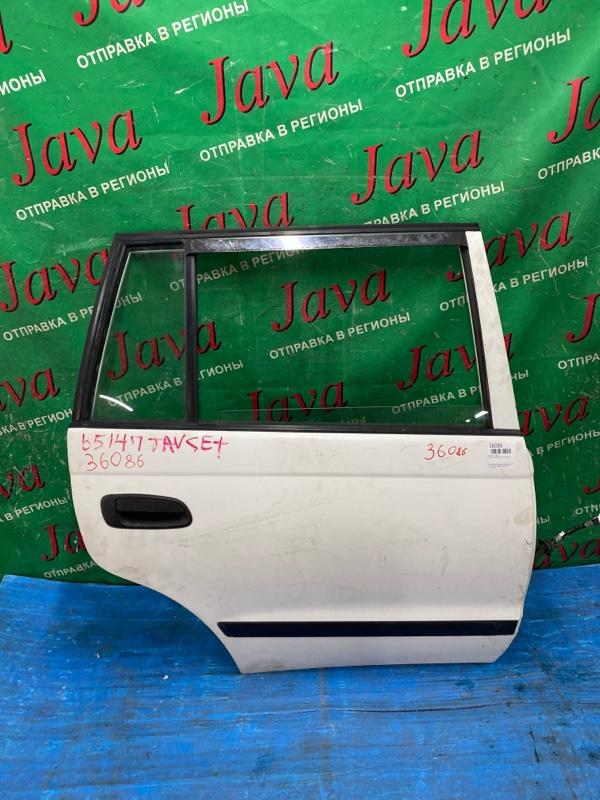 Дверь Toyota Caldina CT197 3C-E 1998 задняя правая (б/у) ПОТЕРТОСТИ.
