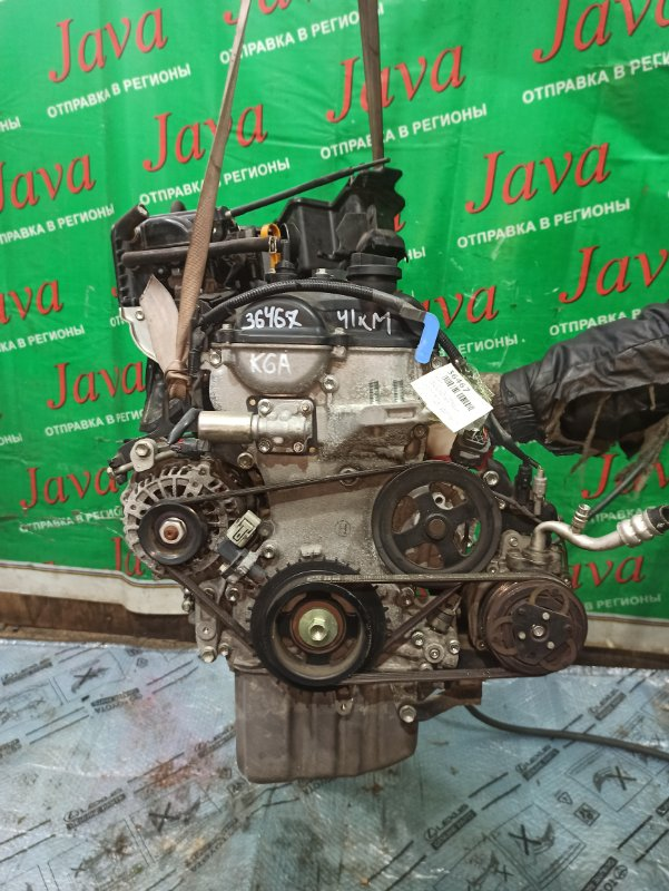 Двигатель Suzuki Alto HA25S K6A 2013 (б/у) ПРОБЕГ-41000КМ. 2WD. МЕХ. ЗАСЛОНКА. ПОД А/Т. СТАРТЕР В КОМПЛЕКТЕ.