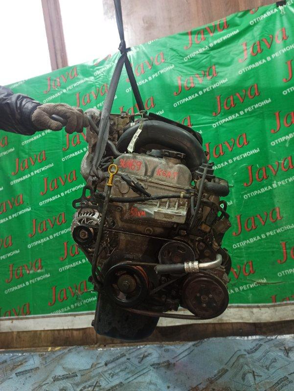 Двигатель Suzuki Wagon R MC21S K6A-T 1999 (б/у) ПРОБЕГ-58000КМ. 2WD. +КОМП. ПОД А/Т. СТАРТЕР В КОМПЛЕКТЕ.
